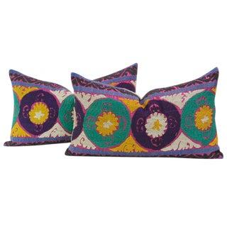Champika Suzani Lumbar Pillows - a Pair