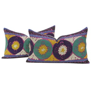 Champika Suzani Lumbar Pillows - a Pair