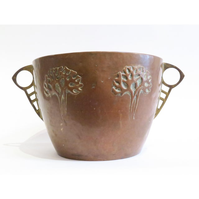 Vintage Hammered Copper Planter - Image 2 of 6