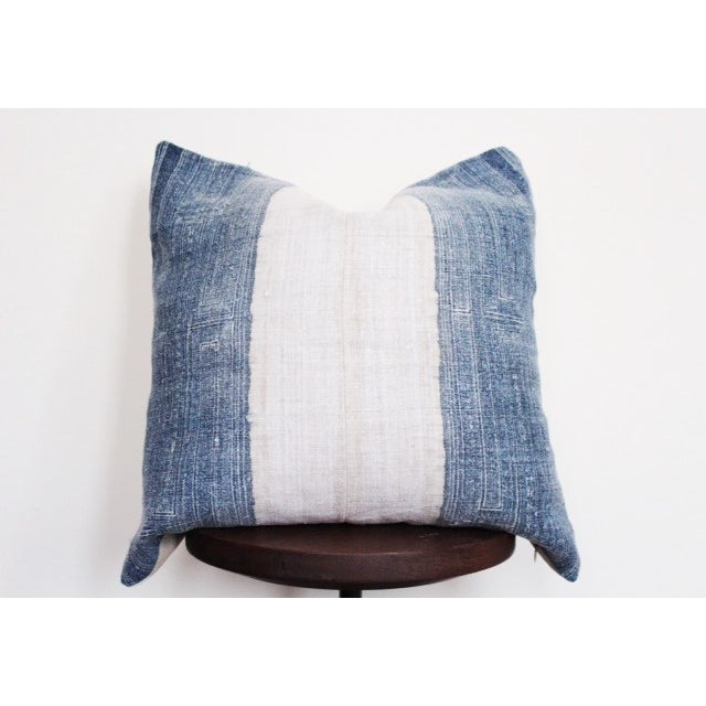 Vintage Batik Hmong Blue and White Pillow - Image 2 of 4