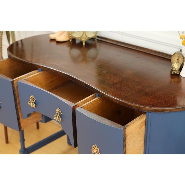 Circa 1930 Louis XV Style Petite Kidney Shaped Desk - Image 7 of 11