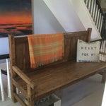 Image of Orange Wool Blanket from London