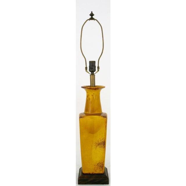 Image of Saffron Glazed Vase Form Table Lamp By Frederick Cooper