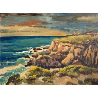 Half Moon Bay Coast Painting by Galen Russell Wolf, 1940