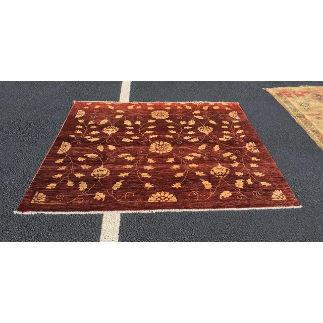 "Brand New Very Soft Turkish Oushak Rug - 5'5"" x 6' - Image 2 of 11"