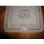 Image of Hand Embroidered Furniture Scarves - Set of 4