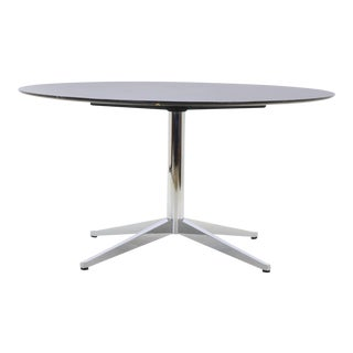 Florence Knoll Black with White Veining Marble Top Dining Table