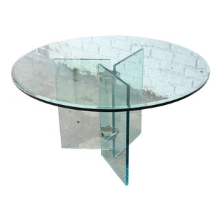 Leon Rosen for Pace Style Brass & Glass Round Dining Table