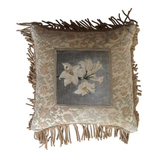 Velvet Daffodil Tapestry Pillow