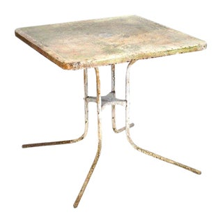 Aged Outdoor Metal Table