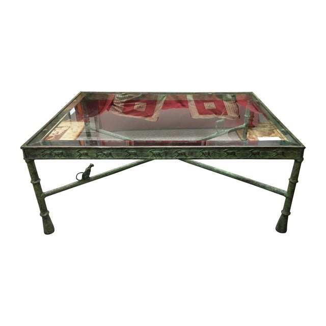 Image of Giacometti Bronze Base Coffee Table