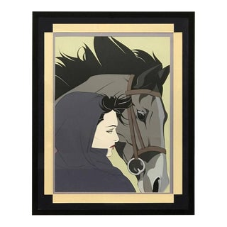 """""""The Horse and the Woman"""" Silkscreen by Patrick Nagel"""