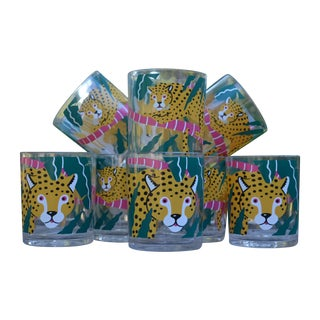 Cheetah Acrylic Tumblers - Set of 8