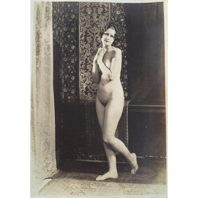 Vintage Art Deco Photo Nude Woman C. 1920 - Image 2 of 4
