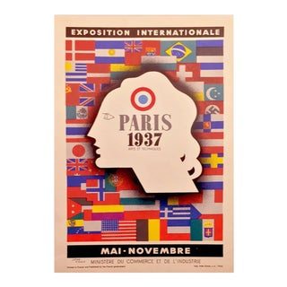 Original 1937 Jean Carlu Paris Exposition Poster