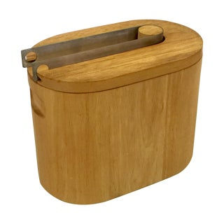 Georges Briard Wooden Ice Bucket