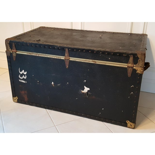 Vintage Extra Large Trunk - Image 6 of 11