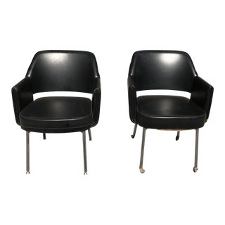 Circa 1950s French Mid-Century Club Chairs - A Pair