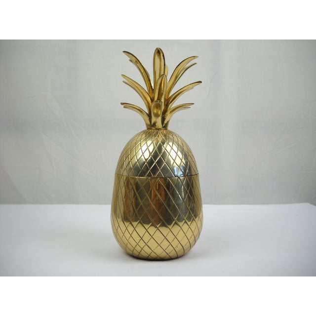 Image of Midcentury Brass Pineapple Container