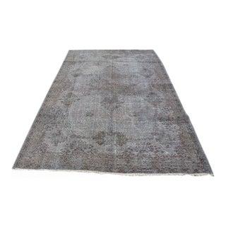 Gray Vintage Turkish Anatolian Area Rug - 5′10″ × 8′8″