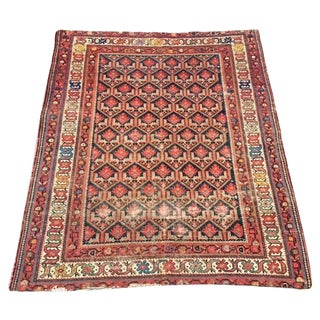 "Antique Persian Bidjar Rug - 5'1"" X 6'"