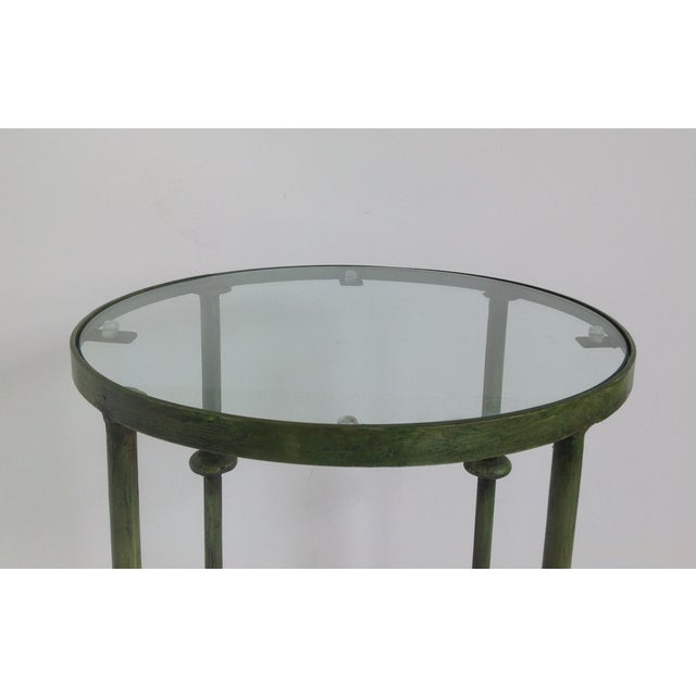 Giacometti-Style Forged Round End Table - Image 8 of 11