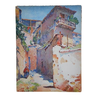 Vintage Lithograph, Spanish View