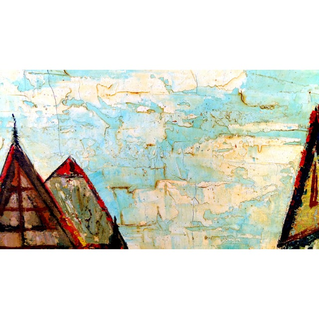 Rustic Street Scene Painting by Geo Koppany - Image 4 of 9