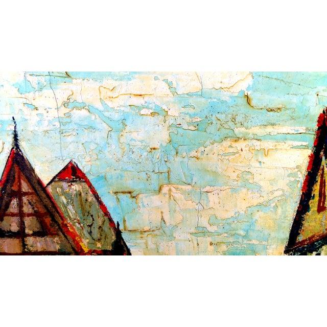 Image of Rustic Street Scene Painting by Geo Koppany