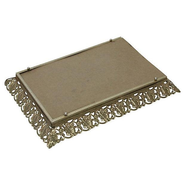 Image of 1950s Gold Filigree Vanity Tray
