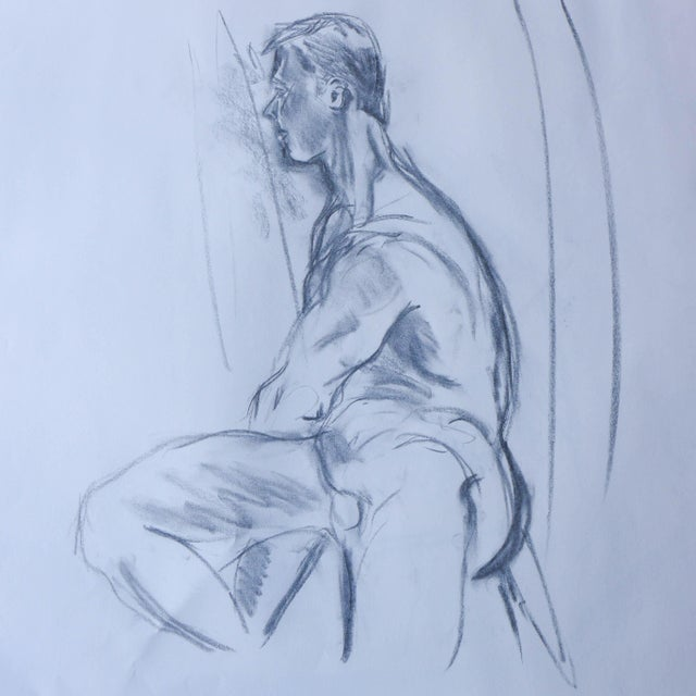 Paul Nude Model Drawing - Image 1 of 3