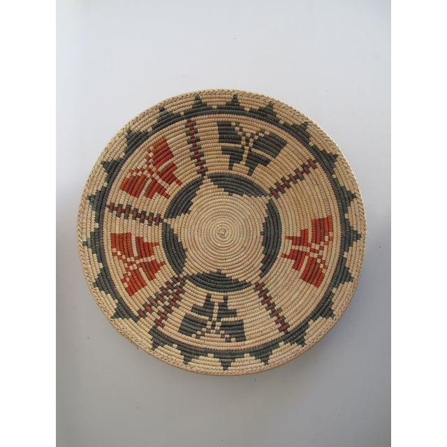 Native American Basket with Butterflies - Image 2 of 4