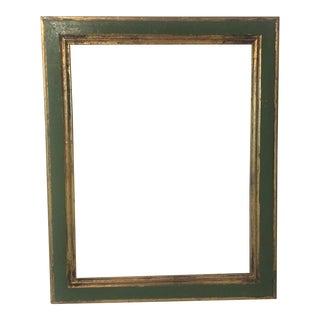 Italian Mid-Century Gold & Green Frame