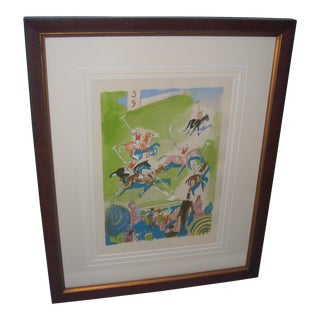 Polo Match Framed Lithograph