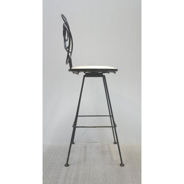 Woodard Scrolled Back Iron Bar Stools - A Pair - Image 3 of 7