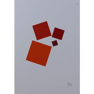 Anton Stankowski Classic Abstract Red Serigraph