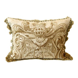 Amorial with Lions Aubusson Pillow - A Pair