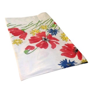 Vintage Vera Square Floral Tablecloth
