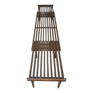 Mid-Century Modern Saltman Expandable Slat Bench