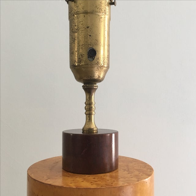Andrew Szoeke Mid-Century Art Deco Inlaid Lamp - Image 7 of 11