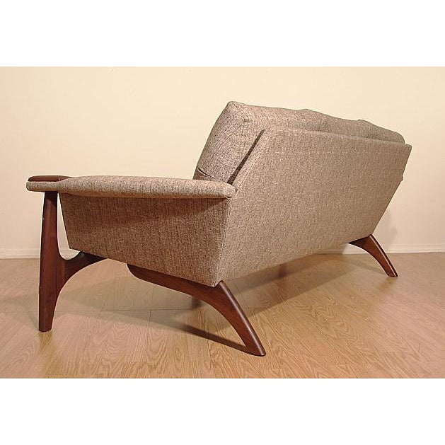 1960s Adrian Pearsall Craft Associates Mid-Century Danish Modern Sofa - Image 7 of 9