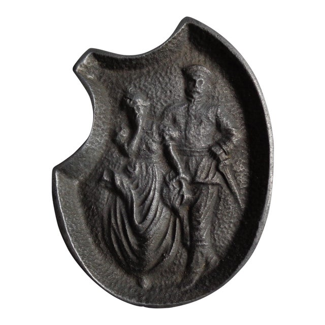Vintage Soldier and Damsel Pewter Ashtray, With Surprise - Image 1 of 5