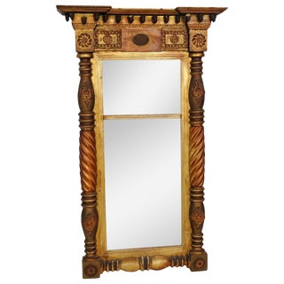 19th C. Empire Style Looking Glass Mirror