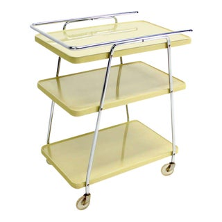Mid-Century Modern Enameled Metal Serving Cart, circa 1950s