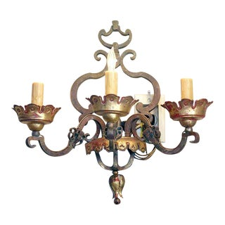 PAIR of Italian Bronze Sconces