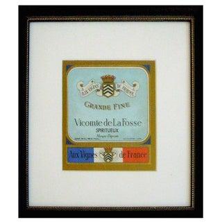 Framed French Vintage Wine Label Vlf