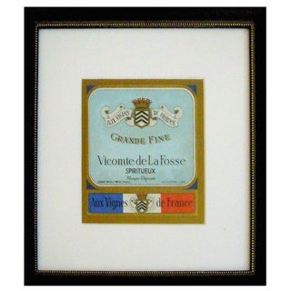 Framed French Vintage Wine Label Vlf