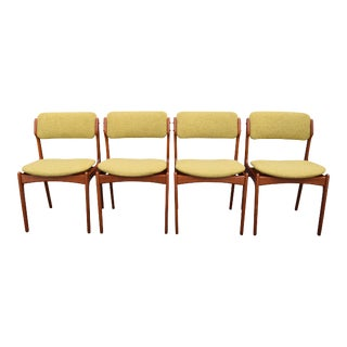 "Vintage Erik Buch Danish Modern ""Model 49"" Teak Chairs - Set of 4"