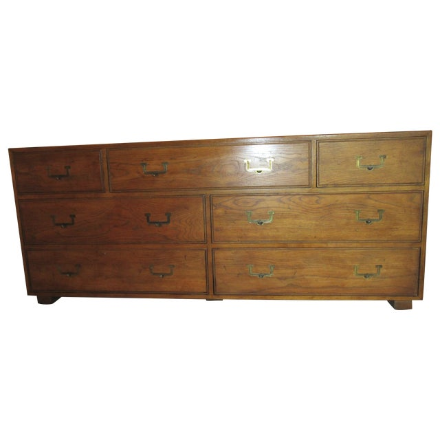 Henredon Campaign Style Dresser/Buffet - Image 1 of 7
