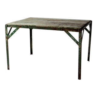 Industrial Wood Top Table